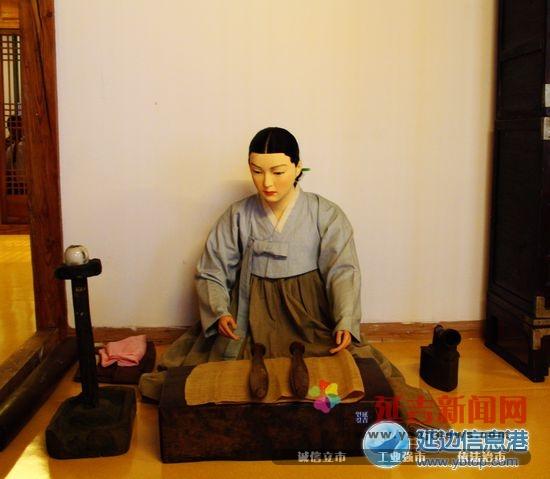 延边朝鲜族民俗展在博物馆展出