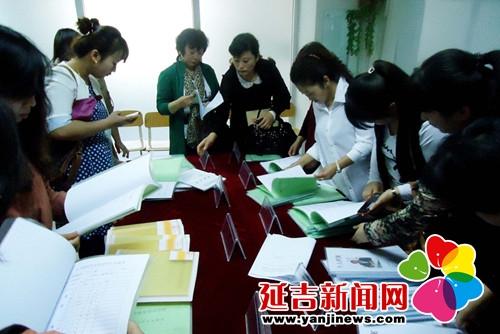 会代表参观超前英语培训学校的安全工作材料   教育局供图 -延吉市民