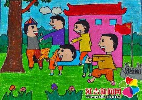 """延新小学举行""""七彩童年""""美术现场绘画比赛"""