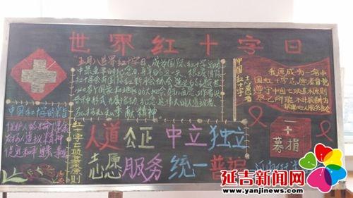 宣传红十字黑板报 河南街道供图图片