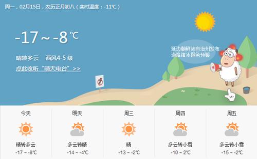本周天气预报-本周两次小雪 气温降低