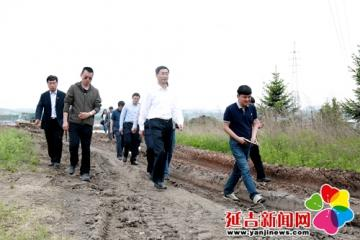 姜虎权到公园路拓宽及新民北街改造工程现场办公