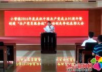 小营镇开展系列活动庆祝建党95周年