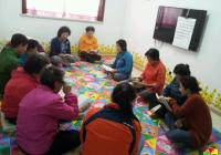民旺社区开展读书读报活动丰富老年人生活