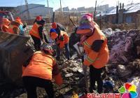 社区联合环卫处开展卫生大清扫活动