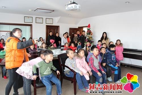 北山小学学生走进延吉市爱心院