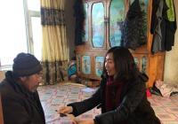 三道湾镇党委春节前走访慰问贫困户