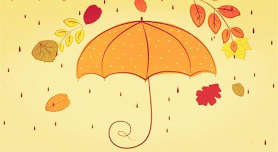 动漫带雨伞手绘
