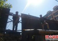 小区围栏损坏 社区组织维修