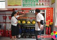 各街道领导到民强社区消防微型站参观学习