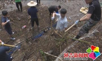 延吉市委组织部青年党员突击队助力灾后重建
