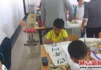 白桦社区开展青少年暑期书法培训活动