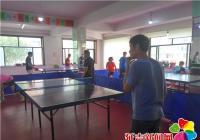 民昌社区乒乓球协会开展友谊赛 案台演绎精彩