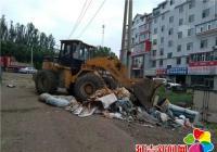 北山街道集中整治辖区环境卫生