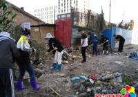 光进沟垃圾堆积如山 多部门联合清理