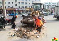 建工街道长青社区对无主建筑垃圾进行集中清理