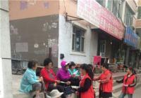 丹光社区开展全民参保登记入户宣传工作