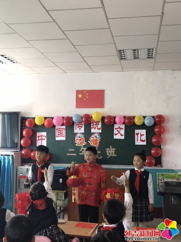 北山小学学生学习中国传统文化