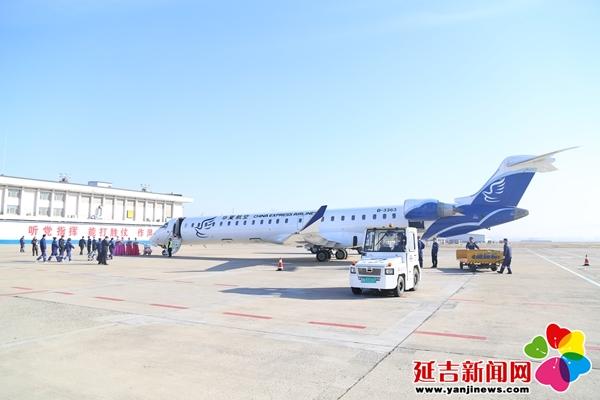 延吉直达天津定班航线首航成功 去北京多了个选择