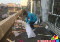 清理装修垃圾   美化居民生活环境