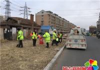 清理道路垃圾   维护良好市容市貌