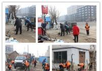 春阳社区组织清理光进沟越冬垃圾—保河道整洁