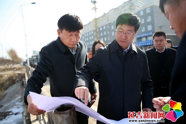 姜虎权调研延吉市城市建设工作