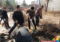 丹吉社区开展绿色家园义务植树活动