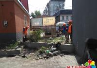 社区整治乱堆乱放  改善辖区环境卫生