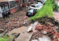 暴雨冲塌护坡  楼长、单元长助力雨后抢险