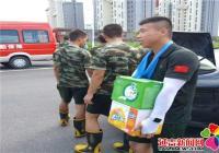 """园法社区慰问消防官兵 共庆""""八一""""建军节"""