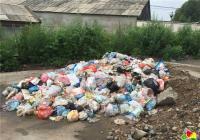 清理路边垃圾   为居民排忧解难