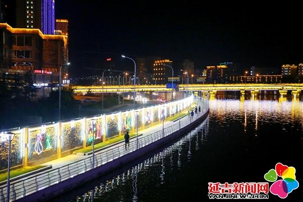 """【组图】布河北岸LED彩灯墙 扮靓延吉城市""""客厅"""""""