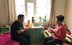 社区开展重阳节 慰问养老院活动