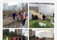 建工街道组织开展集中清理河道内垃圾活动