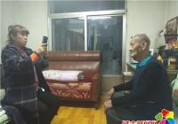 河南街道白桦社区入户采集高龄退役军人信息