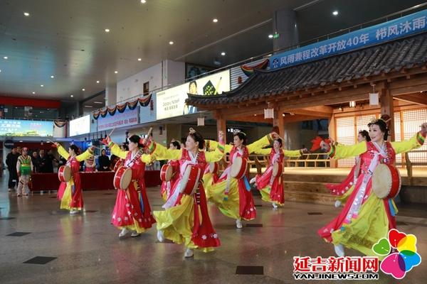 延吉机场与客同乐 庆祝改革开放40周年