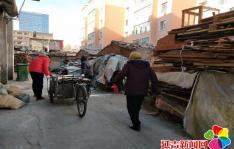 民昌社区开展为火炕楼贫困居民送烧柴慰问活动