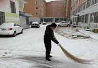 """延春社区展开 """"路面见实质,清雪我先行""""意愿清雪运动"""