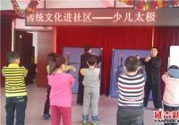 白丰社区开展传统文化进社区少儿太极活动