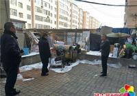 白玉社区联合综合执法开展清理乱堆乱放活动