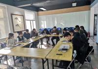 延春社区指导非公企业党组织 召开组织生活会