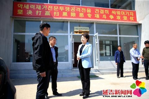 尹朝晖调研古城村基层党组织建设和扫黑除恶工作