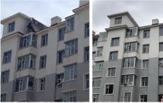 居民楼顶铁皮脱落 社区出面消除隐患