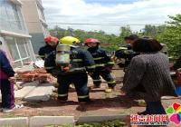 居民家中起火 社区紧急救援