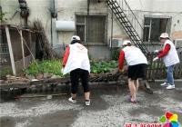 白玉社区清理环境卫生 助力创建文明城市