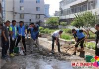 """南阳社区联合共驻共建单位开展""""党员群众同心 共建美丽城"""