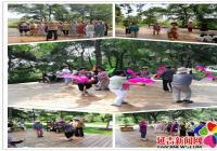 蒲公英老年志愿者走进公园 开展扫黑除恶宣传活动