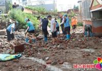 暴雨冲塌护坡 街道社区及时解决维修