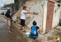 """粉刷外墙""""野广告""""   靓化环境助创城"""